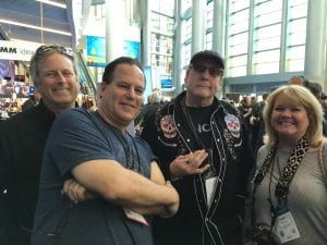 GearSecure Team_Rick Nielsen_Tara Low Editor of Guitar Girl Magazine at NAMM 2017