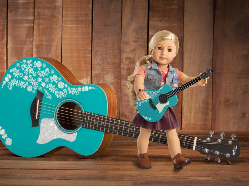 taylor guitars and american girl musically inspire young girls