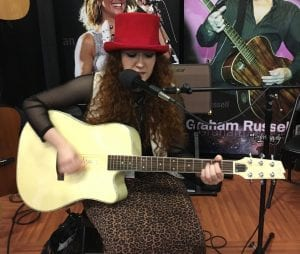 Sophia Radisch at Boulder Creek Guitars NAMM 2017