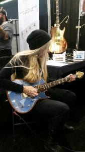 Che Zuro playing Zeberus Guitars at NAMM 2017
