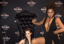 Michelle Queen and DJ Silla Tha Thrilla at Hardrock Cafe Las Vegas