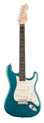 AMERICAN ELITE STRATOCASTER EBONY OCEAN TURQUOISE FRONT