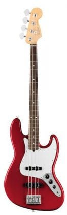 AMERICAN PROFESSIONAL JAZZ BASS, CANDY APPLE RED FRONT