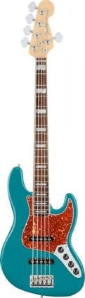 American Elite Jazz Bass V EB Ocean Turquoise, Front