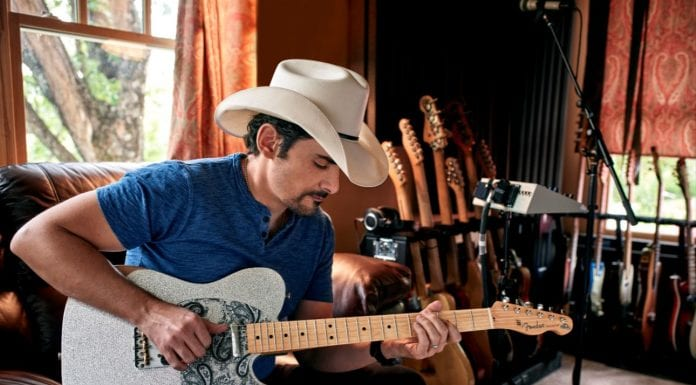 Brad Paisley with Fender Road Worn Telecaster