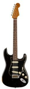 FENDER LIMITED EDITION RELIC BLACK ROASTED DUAL-MAG STATOCASTER WHOLE FRONT