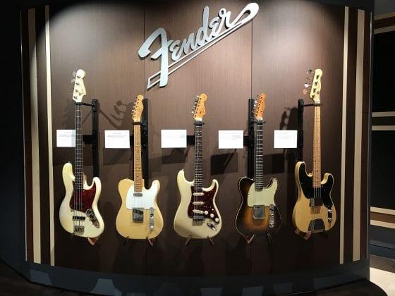 Fender Display at GIG