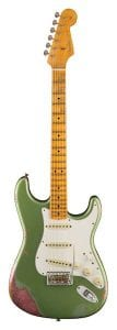 Fender Limited Edition Relic '64 Special Stratocaster – Aged Sage Green Metallic Over Champagne Sparkle Front