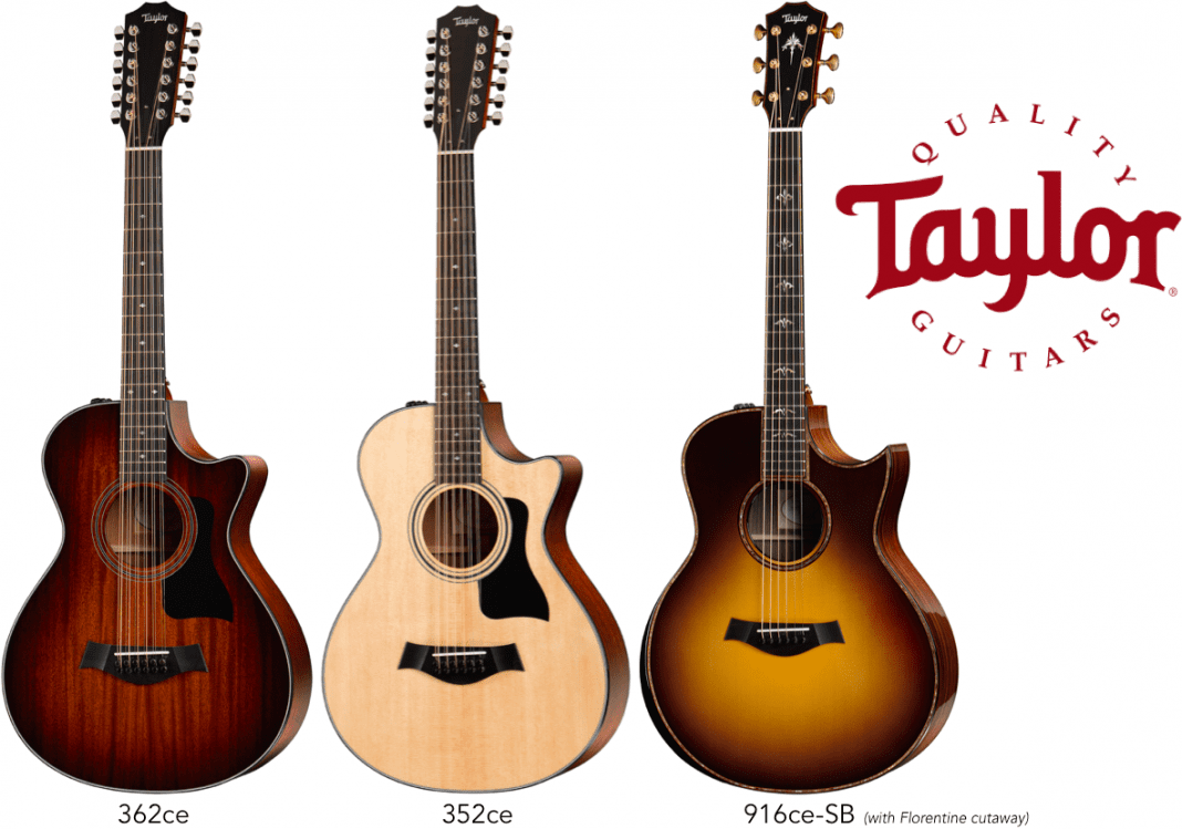 taylor guitars debuts new small body 12 string guitars florentine cutaway grand symphony. Black Bedroom Furniture Sets. Home Design Ideas