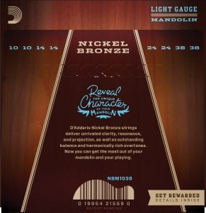 D'Addario Nickel Bronze Strings for Mandolin