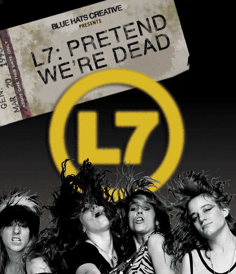 L7 Pretend We're Dead promo shot