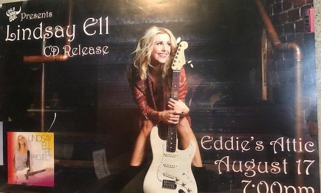 Lindsay Ell Eddie's Attic Event Poster