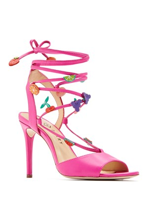 Katy Perry The Carmen fruit embellished stiletto strap pink