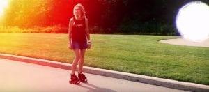 Sheryl Crow Roller Skate Promo Shot