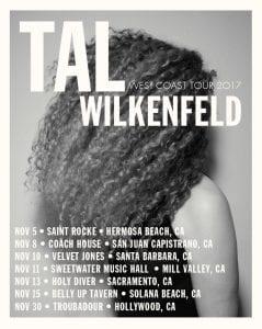 Tal Wilkenfeld West Coast 2017 Tour Date Poster