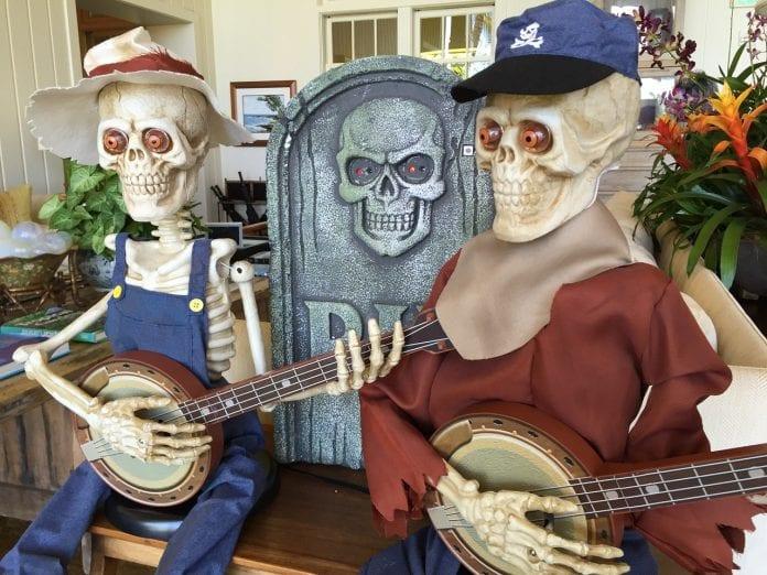 skeletons playing banjo