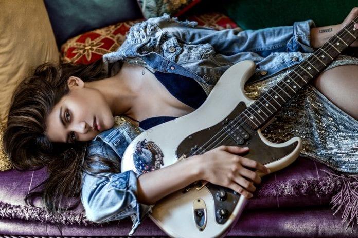 Ananya Birla Electric Guitar - Photo by Errikos Andreou