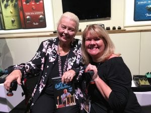 Phyllis Fender and Tara Low at Winter NAMM 2018