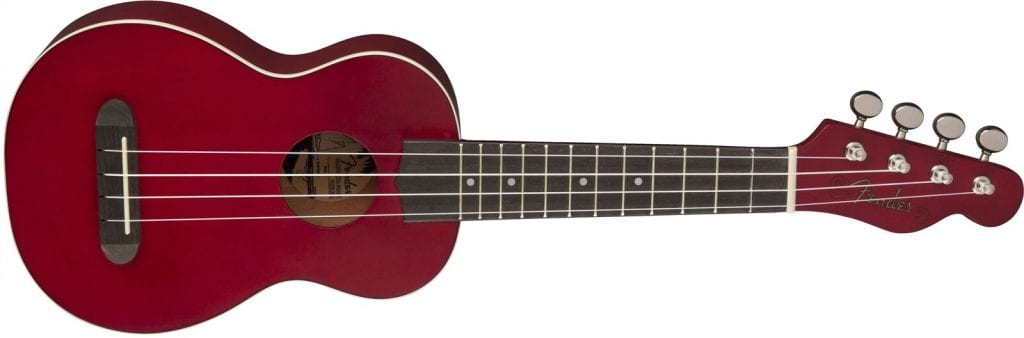 Fender Venice Soprano Uke, Cherry_preview