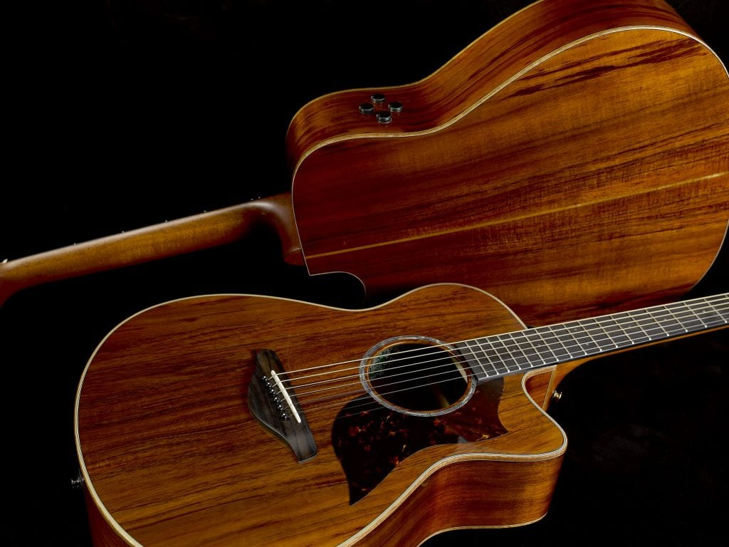 namm 2018 yamaha expands a series line with limited edition all solid koa wood acoustic. Black Bedroom Furniture Sets. Home Design Ideas