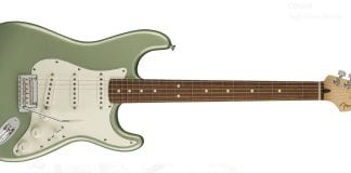 fender stratrocaster in green