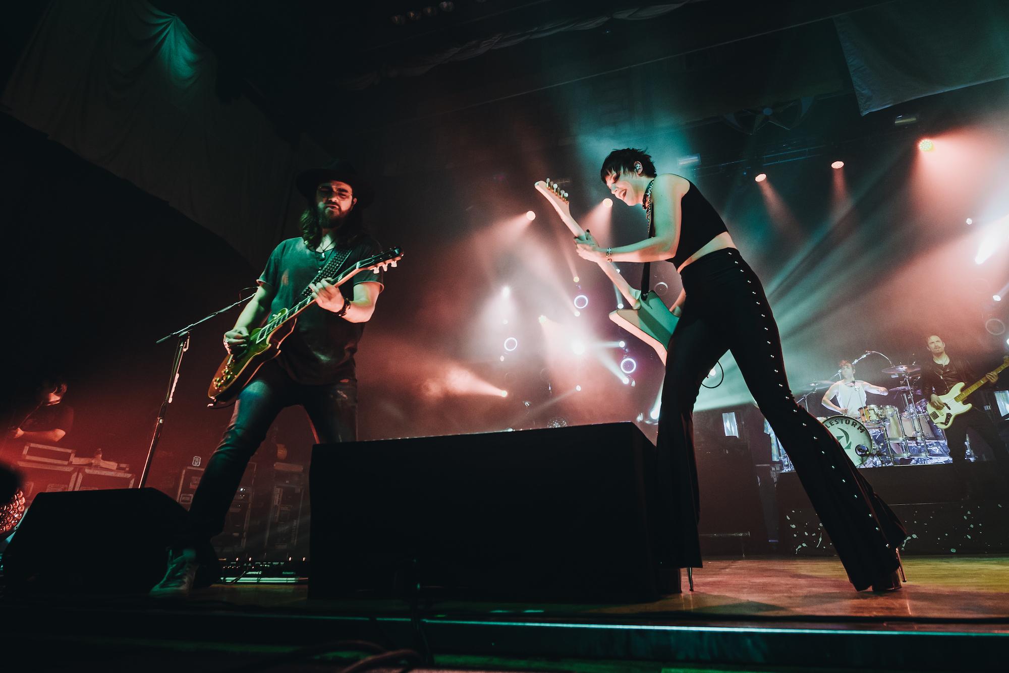 Halestorm performing live in Springfield, Missouri