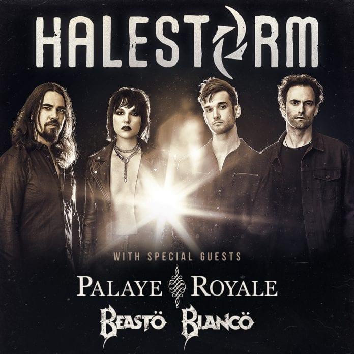 Halestorm 2019 Tour Poster