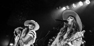 the sisterhood performing onstage at the showbox at the market in seattle