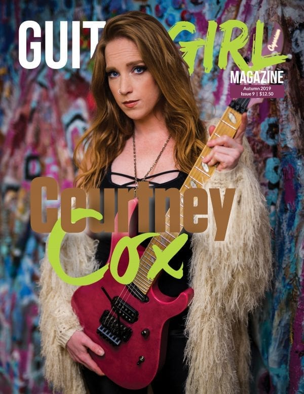 guitar magazine cover courtney cox