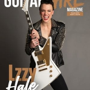 guitar magazine cover with lzzy hale