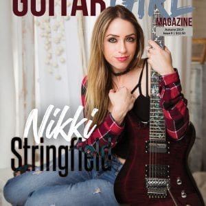 guitar magazine cover with nikki stringfield