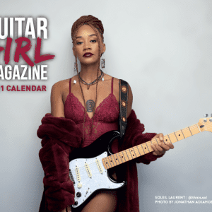 Guitar Girl Magazine 2021 Calendar Cover