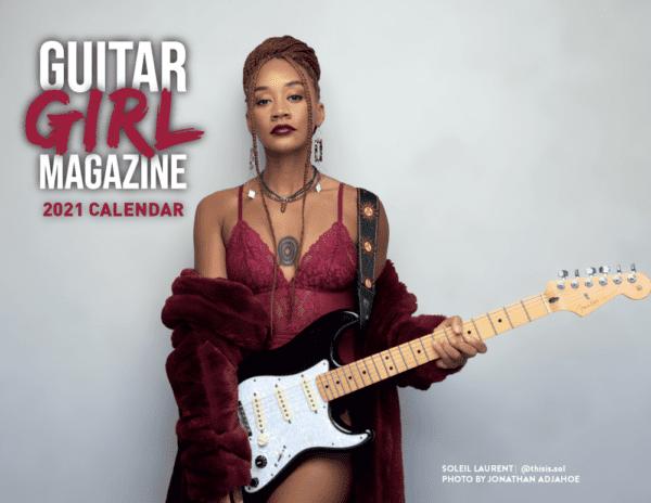 Guitar Girl Magazine 2021 Calendar Cover