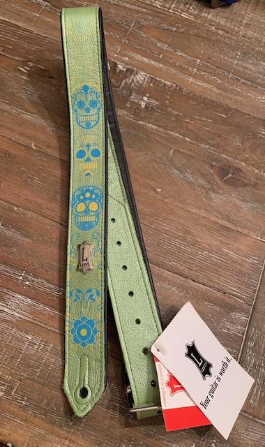 skull guitar strap